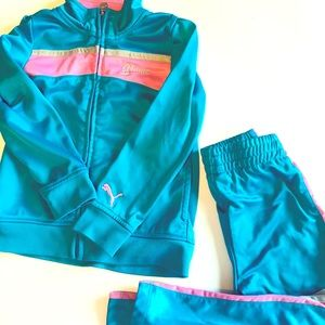 Girls Puma Tracksuit Jacket and Pants